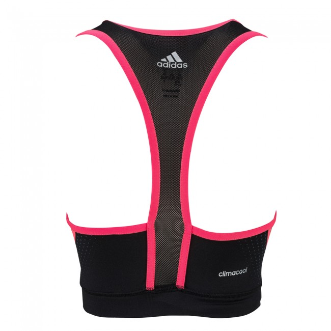Adidas Train Brast - Sport BH schwarz/shock red – Bild 4