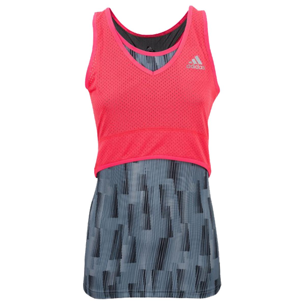 Adidas Pro Stretch Lady Tank - grey / shock red