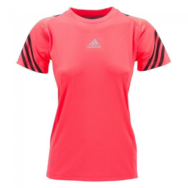 Adidas Pro Sleeve Tee Lady - shock red/black