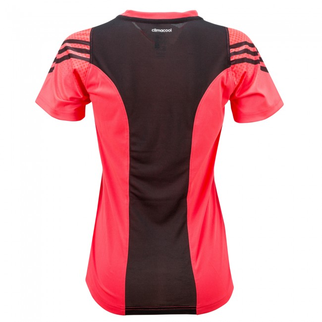 Adidas Pro Sleeve Tee Lady - shock red / black – image 2