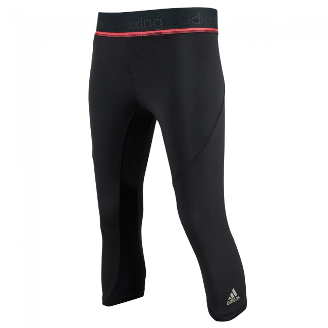 Adidas Pro 3/4 Tight - schwarz / shock red