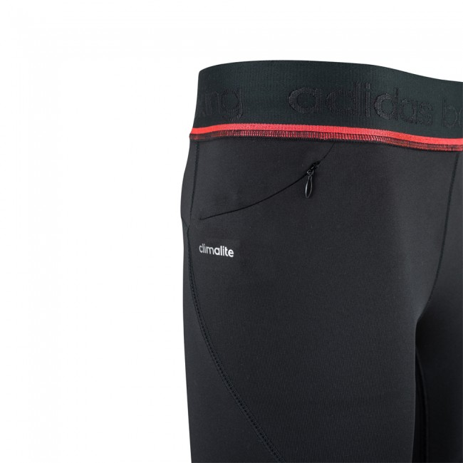 Adidas Pro 3/4 Tight - negro / rojo choque – Bild 3
