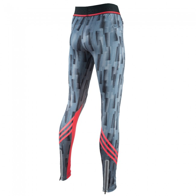 Adidas Pro Legging - gray / shock red – image 2