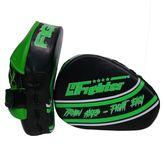 4Fighter-Pro FIGHT HARD medium Focus Pads / vorgekrümmte Handpratzen schwarz-grün 001