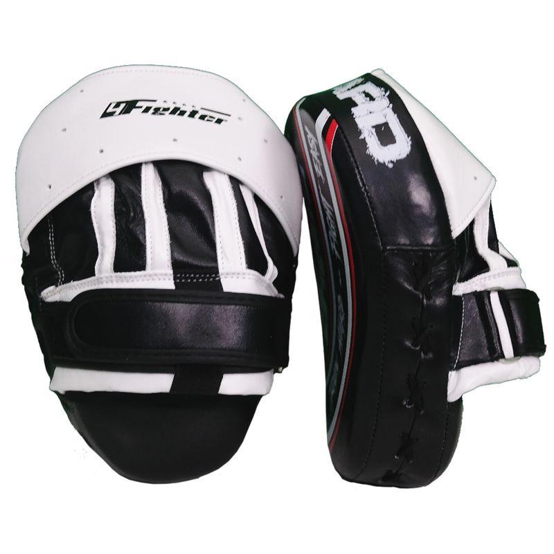 4Fighter-PRO FIGHT HARD almohadillas de enfoque medio / cultivos de mano pre-curvados negro-blanco – Bild 1