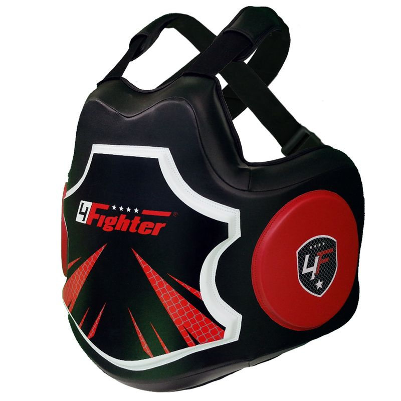 4Fighter Pro Body Protector black-red – image 2