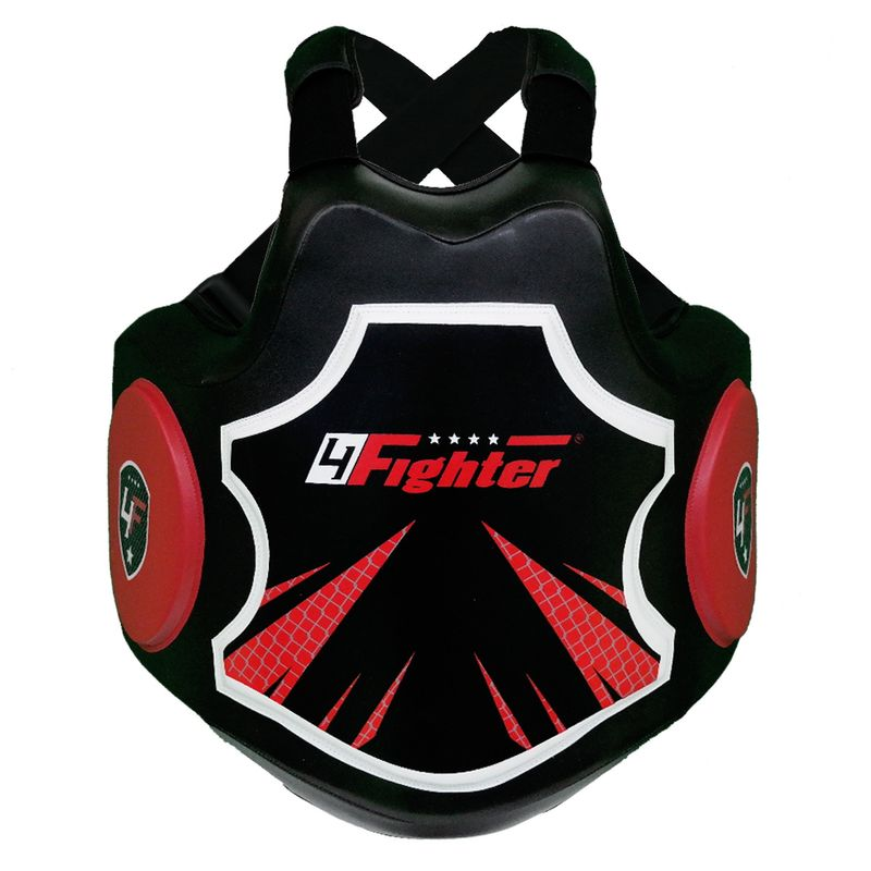 4Fighter Pro Body Protector black-red – image 1