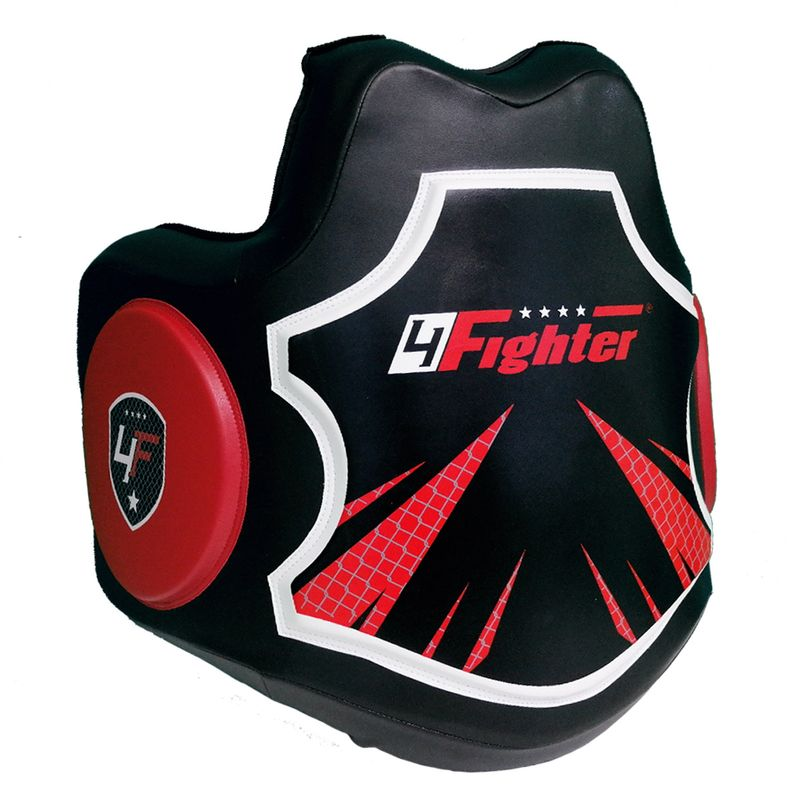 4Fighter Pro Body Protector schwarz-rot – Bild 3