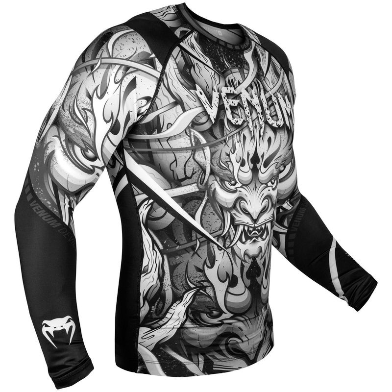 VENUM DEVIL RASHGUARD - LONG SLEEVED - WHITE / BLACK – image 2