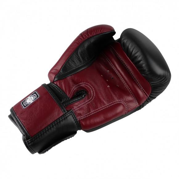 Twins Profi Leder Boxhandschuhe Muay Thai Kick Boxing / Modell: BGVL 3 Black-Wine red – Bild 3