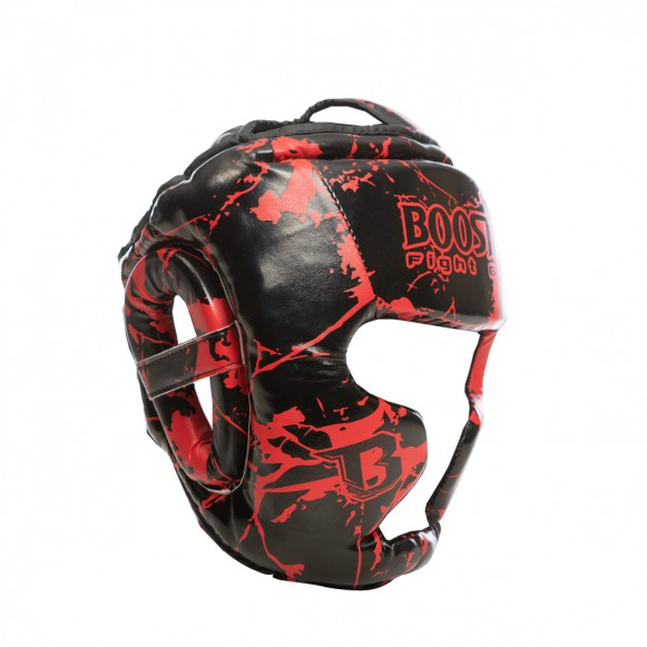 Booster Sparring Head Protection Training Head Protection for Children - Marble Red – image 1