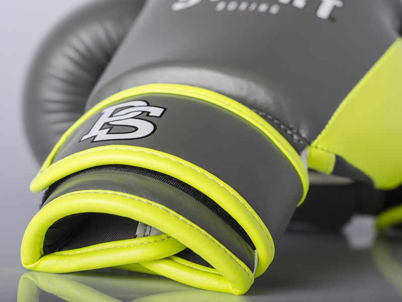 Kids Boxing Glove Grey/Neon Yellow – Bild 5