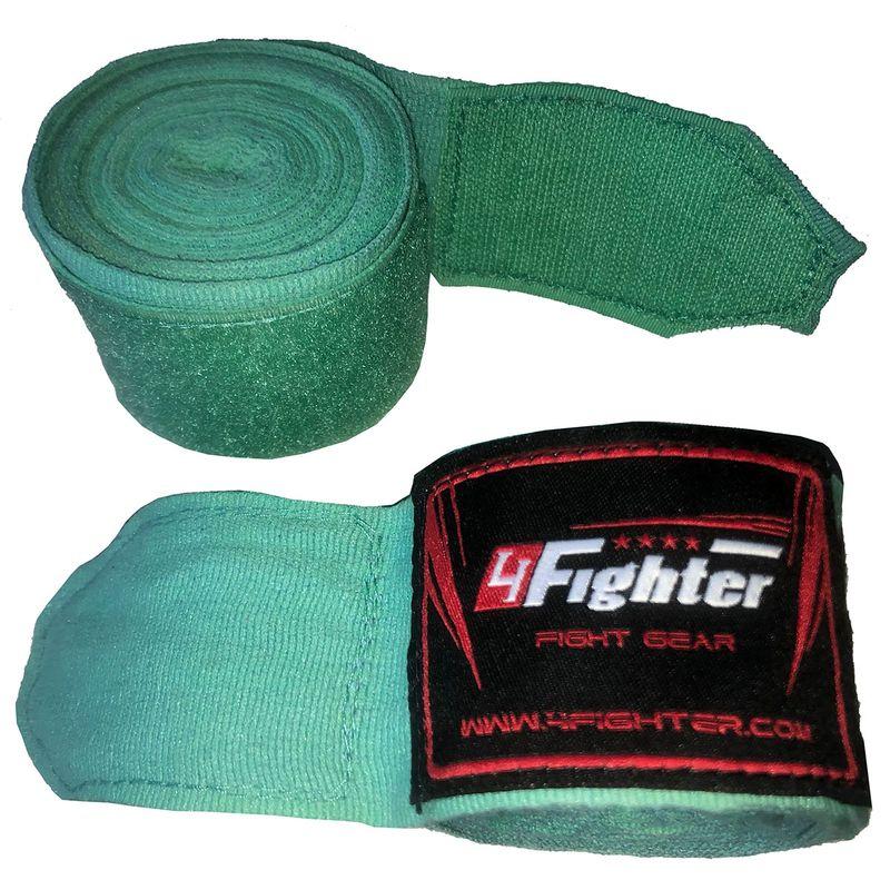 4Fighter Box bandages / handwraps 460cm elastic turquois-mint – image 3