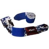 4Fighter Boxbandagen / Hand Bandagen 460cm semi-elastisch pixel ccamouflage blau