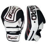 4Fighter Focus Mitts Kick & Punch Leder schwarz-weiß 001