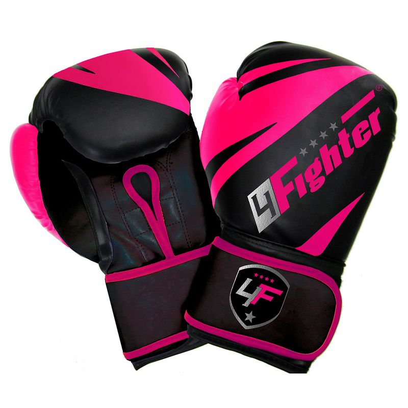 4Fighter Pink-Arrow Cool Line Boxing Gloves pink-black made of PU