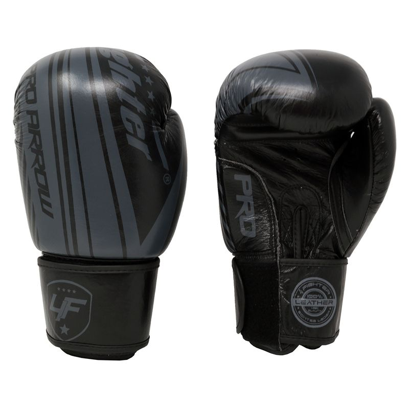 Pro Arrow Leather Boxing Glove grey black – image 2