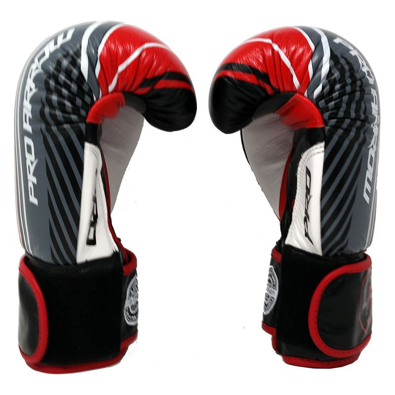 Pro Arrow Leather Boxing Glove red black – image 4