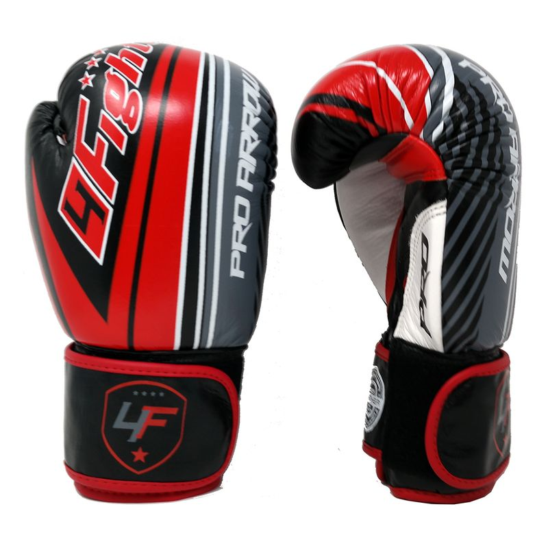 Pro Arrow Leather Boxing Glove red black – image 1