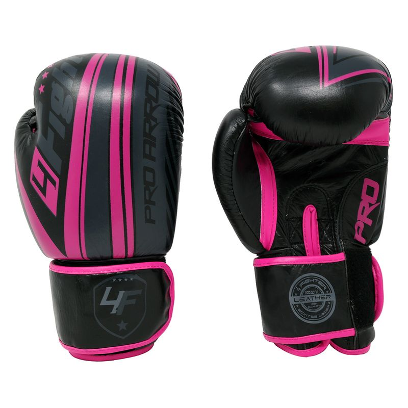 Pro Arrow Leather Boxing Glove pink black