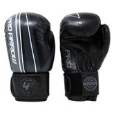 Pro Arrow Leather Boxing Glove grey white black