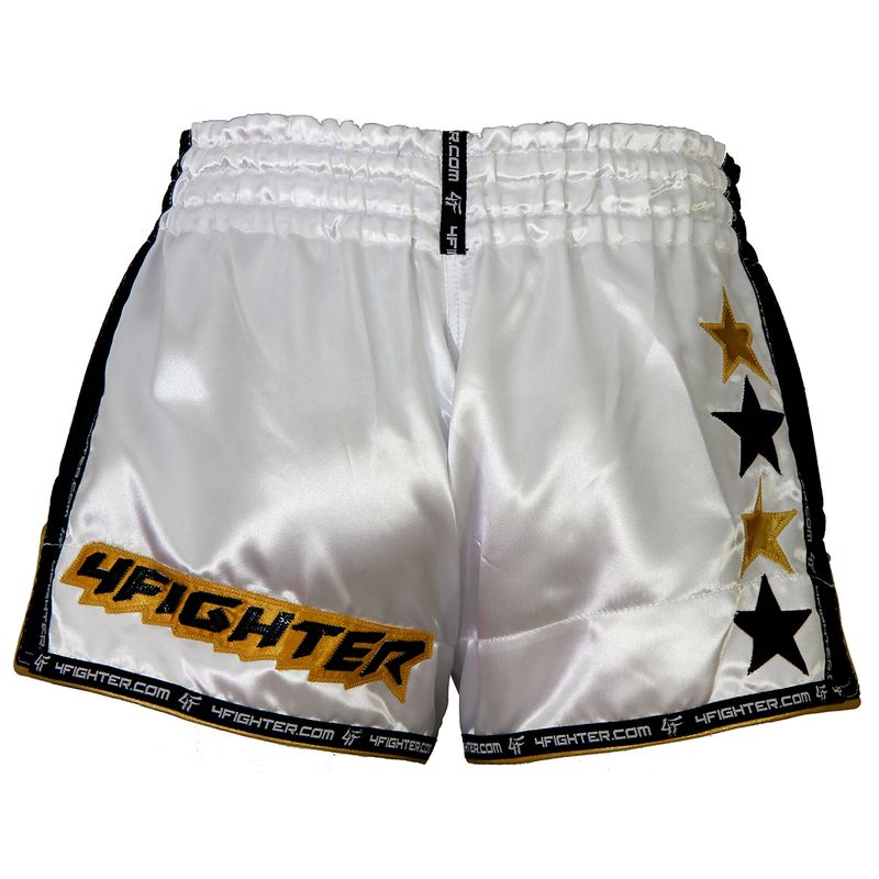 4Fighter Low Waist Muay Thai Shorts White Muay Thai – image 2