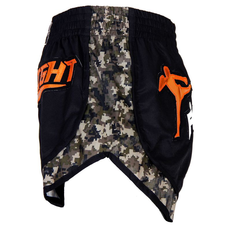 4Fighter Live 2 Fight Low Waist Muay Thai Shorts / black camoflagoue – Bild 2