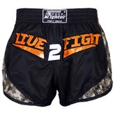4Fighter Live 2 Fight Low Waist Muay Thai Short - Fight Spirit 001