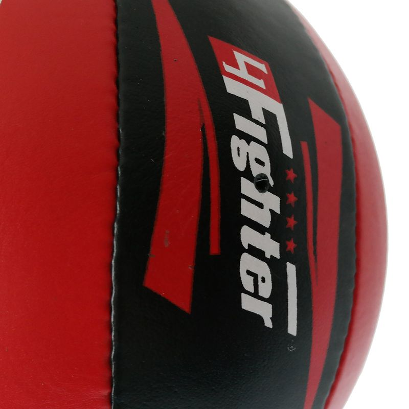 4Fighter Leather Punching ball / Double End Ball black red with 4fighter Logos and rubber suspension – image 8