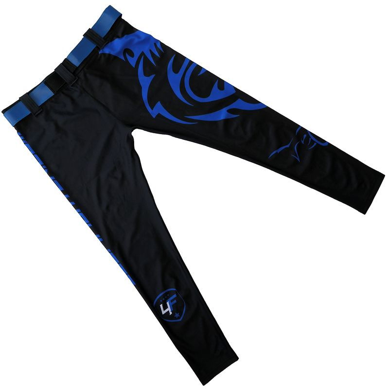 4Fighter MMA Compression long shorts blue shark – image 4