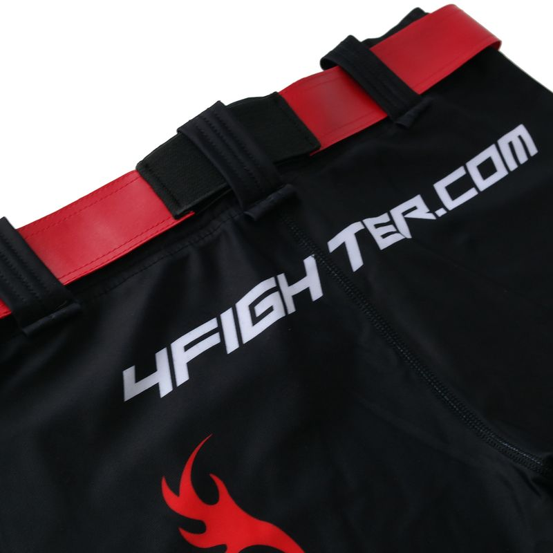 4Fighter MMA Compression long Shorts red Dragon  – Bild 8