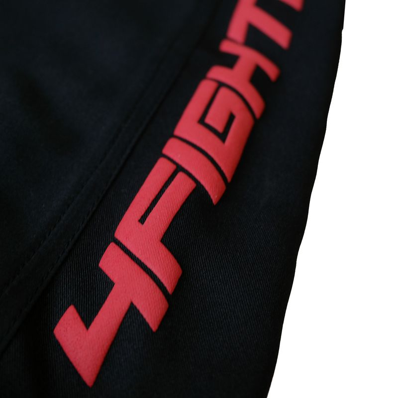 4Fighter MMA Shorts Black-red Pro Combat  – Bild 4