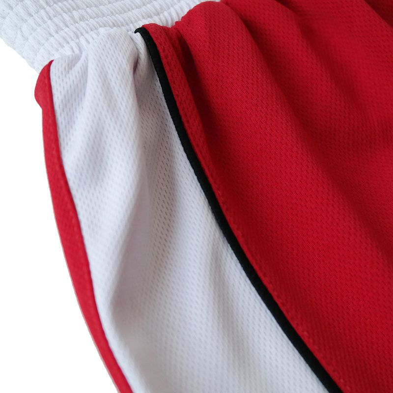 4Fighter Boxer pants red with white waistband and white stripes on the legs – image 5