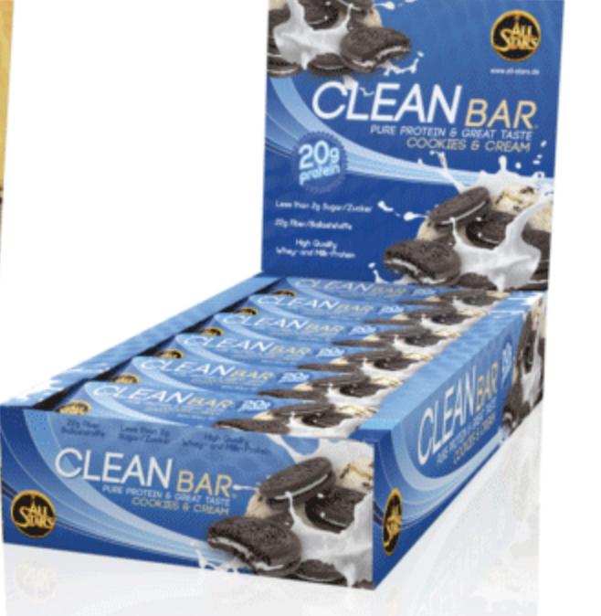 All Stars Clean Bar Cookies & Cream Riegel 60 g