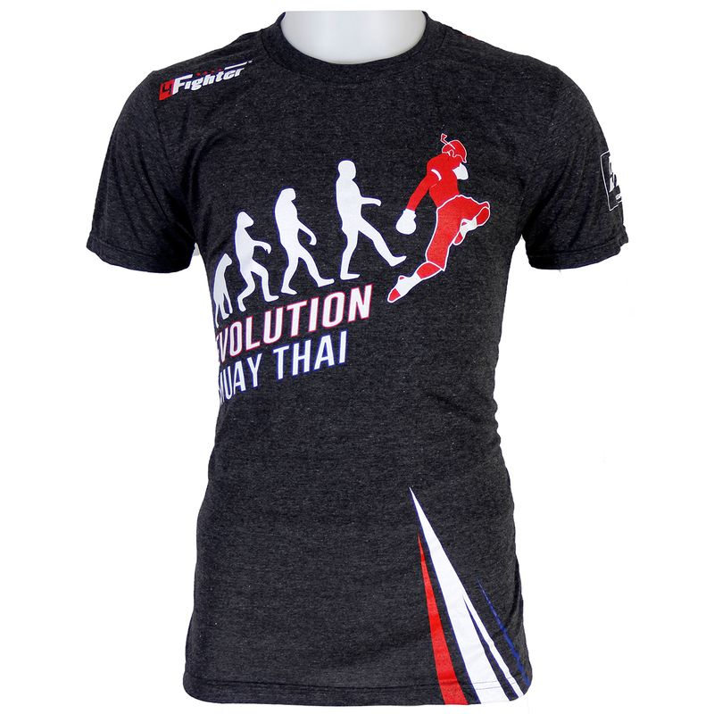 4FT Evolution Muay Thai T-shirt gray – Bild 1
