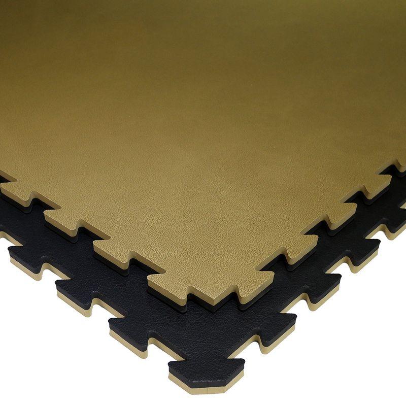 4Fighter 2cm Härtegrad 50 Kampfsportmatte Double Water schwarz-gold – Bild 1