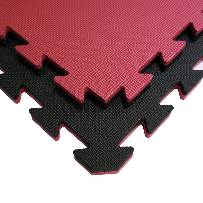 4Fighter 2cm martial arts mat DOUBLE CROSS red-black – image 1