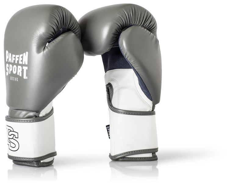 Paffen-Sport Fit Boxing Gloves for training grey-white 10-16Oz – image 1
