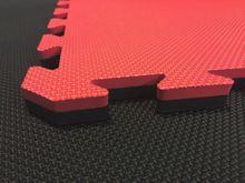 4Fighter 2cm Kampfsportmatte DOUBLE CROSS rot-schwarz B-Ware