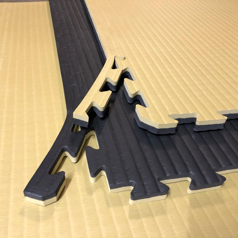 4Fighter 2cm martial arts mat DOUBLE TATAMI gold-black – image 7