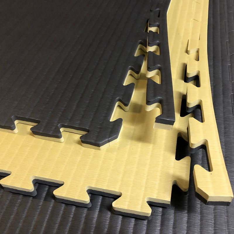 4Fighter 2cm martial arts mat DOUBLE TATAMI gold-black – image 4