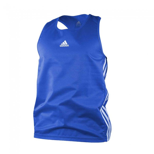 Adidas Boxing Top Blue Aiba Boxer Shirt Tank Top – image 1
