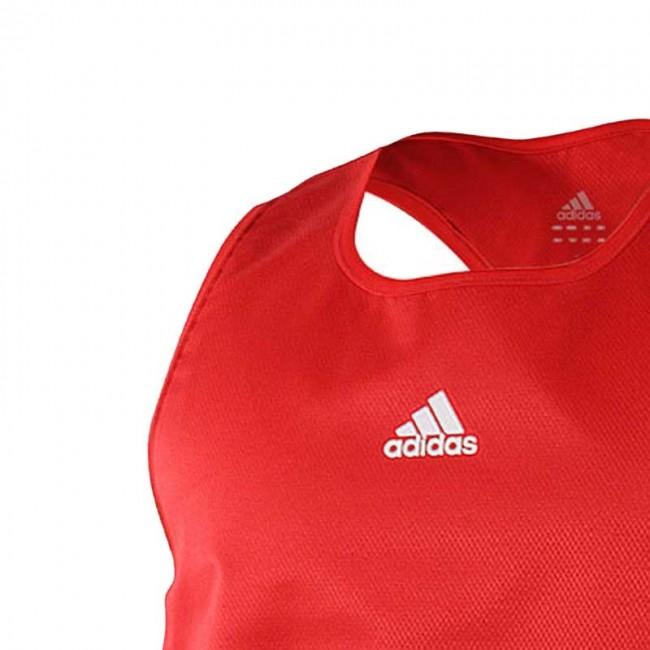 Adidas Boxing Top Red Aiba Boxer Shirt Tank Top – image 2
