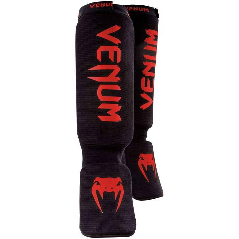 Venum KONTACT espinilleras / empeines MMA, Muay Thai & Kick Boxing / negro-rojo – Bild 2