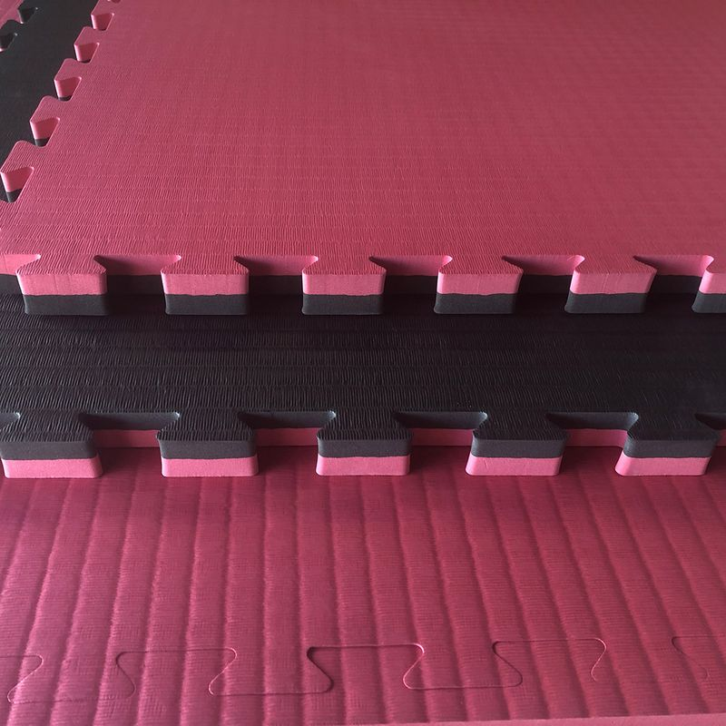4Fighter 4cm martial arts mat DOUBLE TATAMI cherry red-black – image 1
