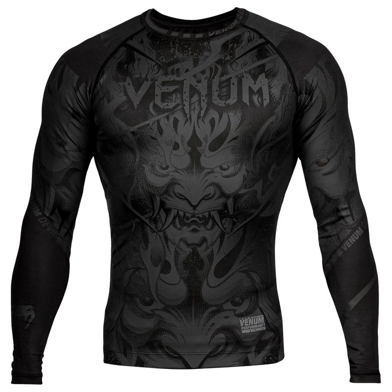 VENUM DEVIL RASHGUARD - LONG SLEEVED - BLACK / BLACK – image 1