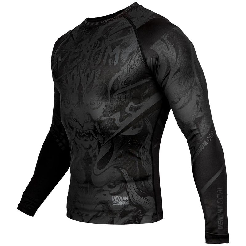 VENUM DEVIL RASHGUARD - LONG SLEEVED - BLACK / BLACK – image 2