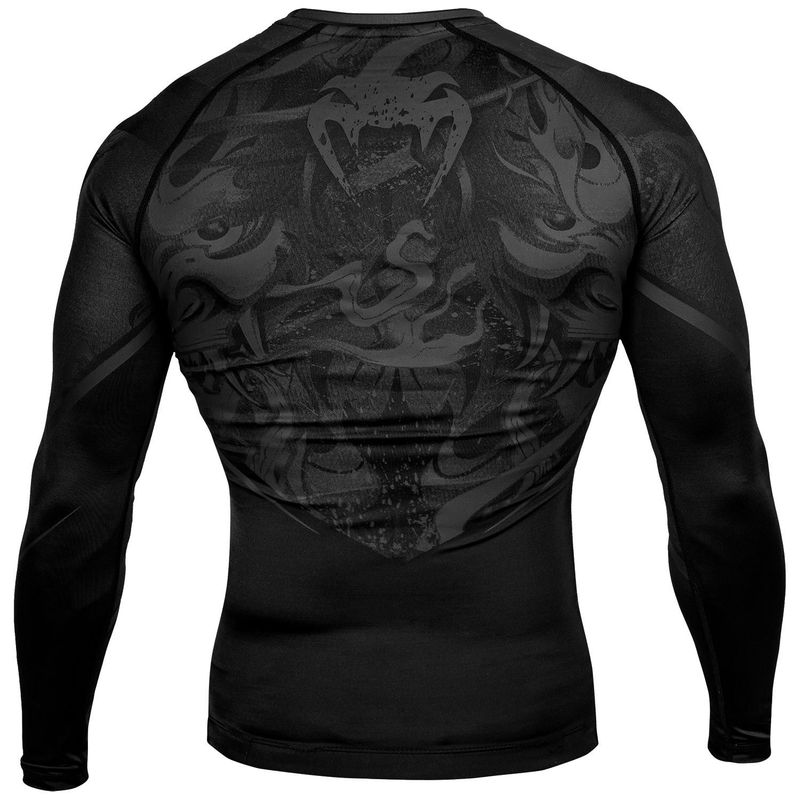 VENUM DEVIL RASHGUARD - LONG SLEEVED - BLACK / BLACK – image 3