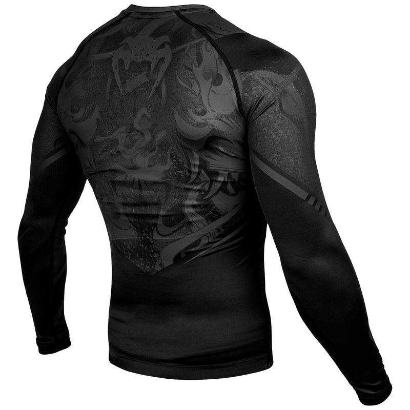 VENUM DEVIL RASHGUARD - LONG SLEEVED - BLACK / BLACK – image 4
