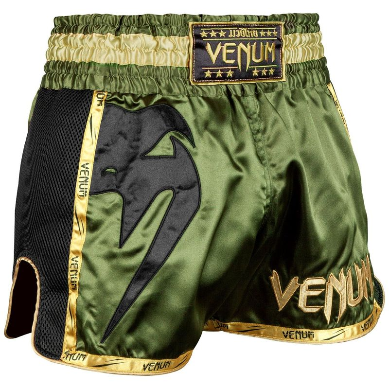 VENUM GIANT MUAY THAI SHORTS KHAKI / BLACK – image 1